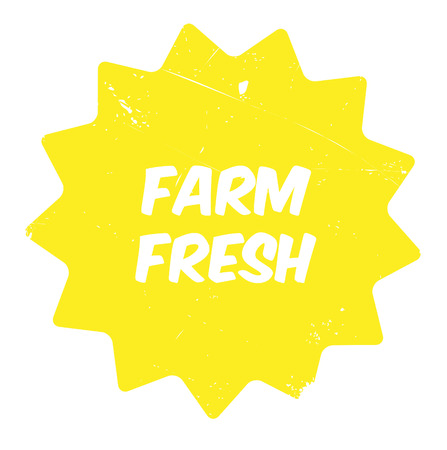 Farm fresh rubber stamp. Grunge design with dust scratches. Effects can be easily removed for a clean, crisp look. Color is easily changed. Illustration