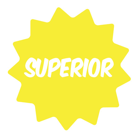 Superior rubber stamp isolated on white background. Bright comic style stamp. Illustration