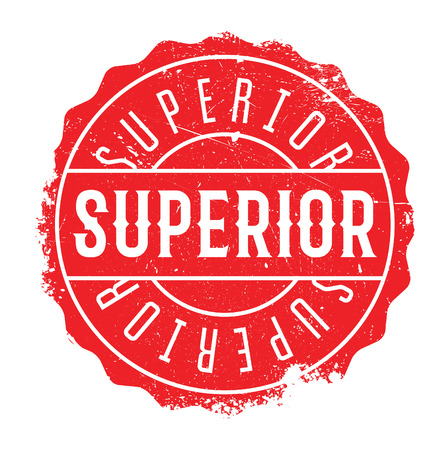 Superior rubber stamp isolated on white background. Grunge effects can be easily removed for a clean crisp look.