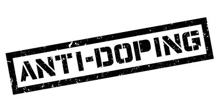 immoral: Anti-Doping rubber stamp on white. Print, impress, overprint. Illustration