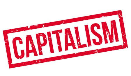 capitalismo: sello de goma capitalismo en blanco. Imprimir, impresionar, sobreimpresión. Vectores