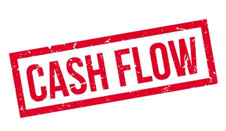 Cash Flow rubber stamp on white. Print, impress, overprint. Vektorové ilustrace