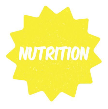 Nutrition rubber stamp, distorted sign. Used, vintage look. Stylish design with dust scratches. Grunge effects can be easily removed for a clean, crisp look.