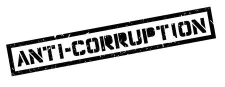 extortion: Anti-Corruption rubber stamp on white. Print, impress, overprint. Illustration