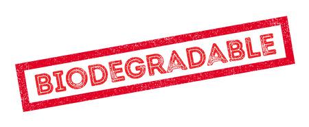biodegradable: Biodegradable rubber stamp on white. Print, impress, overprint.