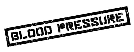 arterial: Blood Pressure rubber stamp on white. Print, impress, overprint. Illustration