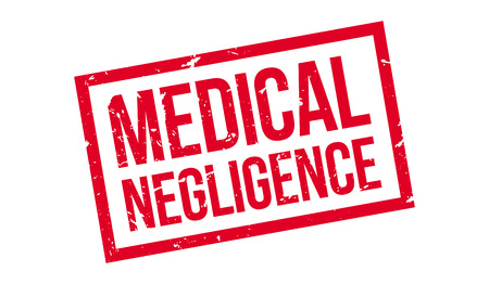 sued: Medical Negligence rubber stamp on white. Print, impress, overprint.
