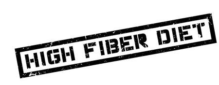 regime: High Fiber Diet, rubber stamp on white. Print, impress, overprint.