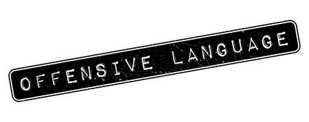 blasphemy: Offensive Language rubber stamp on white. Print, impress, overprint.