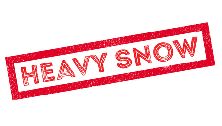 sleet: Heavy Snow, rubber stamp on white. Print, impress, overprint.