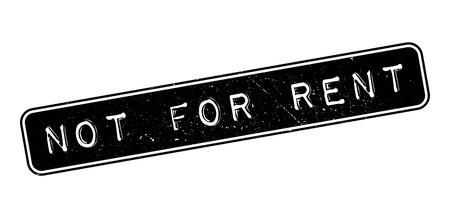 accomodation: Not For Rent rubber stamp on white. Print, impress, overprint.