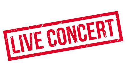 live concert: Live Concert rubber stamp on white. Print, impress, overprint. Illustration