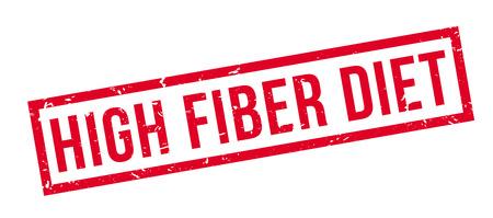 ibs: High Fiber Diet, rubber stamp on white. Print, impress, overprint.