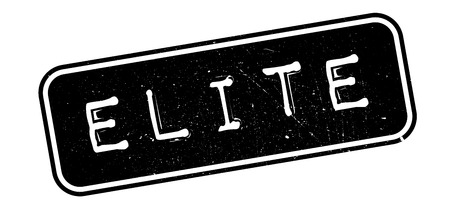 dignified: Elite rubber stamp on white. Print, impress, overprint. Illustration