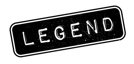 legend: Legend rubber stamp on white. Print, impress, overprint.