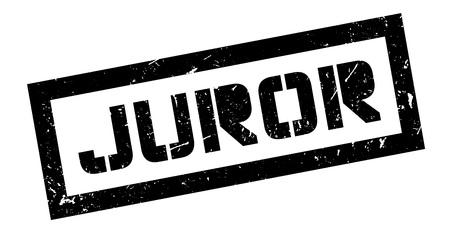 juror: Juror, rubber stamp on white. Print, impress, overprint.