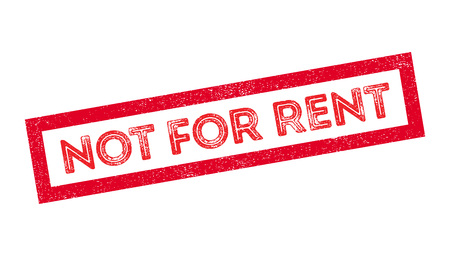 occupy: Not For Rent rubber stamp on white. Print, impress, overprint.
