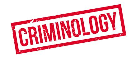criminology: Criminology rubber stamp on white. Print, impress, overprint.