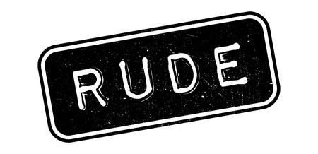 Rude rubber stamp on white. Print, impress, overprint.