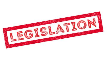 lawmaking: Legislation rubber stamp on white. Print, impress, overprint.