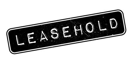 land owner: Leasehold rubber stamp on white. Print, impress, overprint. Illustration