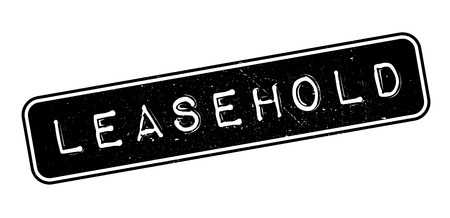 Leasehold rubber stamp on white. Print, impress, overprint. Illustration