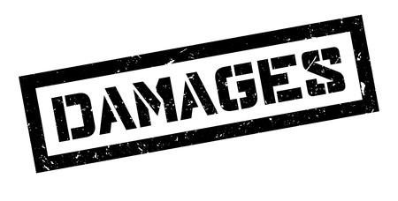 maltreatment: Damages  rubber stamp on white. Print, impress, overprint.