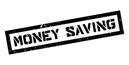 vesting: Money Saving rubber stamp on white. Print, impress, overprint. Illustration