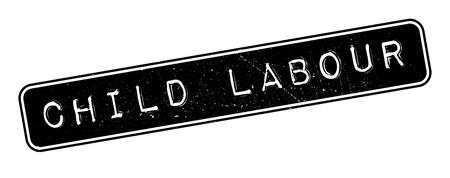 exploit: Child Labour rubber stamp on white. Print, impress, overprint.
