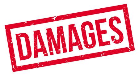 impair: Damages  rubber stamp on white. Print, impress, overprint.