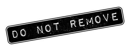 eliminate: Do not Remove rubber stamp on white. Print, impress, overprint.