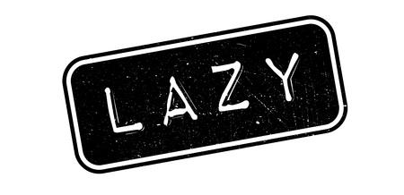 jobless: Lazy rubber stamp on white. Print, impress, overprint.