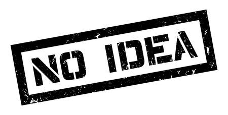 unintelligent: No Idea rubber stamp on white. Print, impress, overprint.