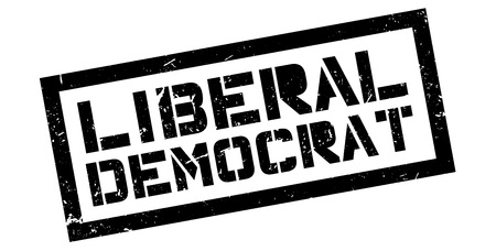 rightwing: Liberal Democrat rubber stamp on white. Print, impress, overprint.
