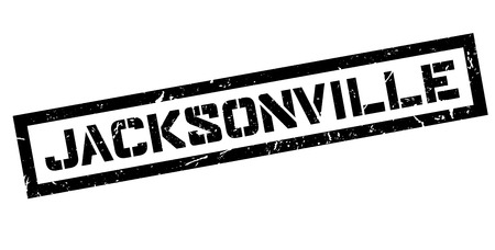 jacksonville: Jacksonville, rubber stamp on white. Print, impress, overprint.