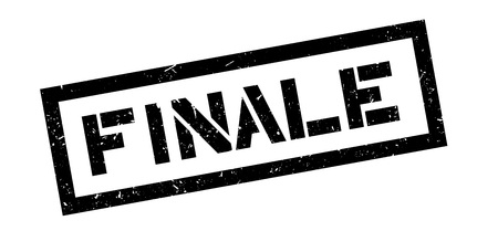 finale: Finale rubber stamp on white. Print, impress, overprint. Illustration