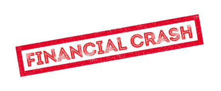 credit crunch: Financial Crash rubber stamp on white. Print, impress, overprint.