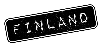 made in finland: Finland rubber stamp on white. Print, impress, overprint. Illustration
