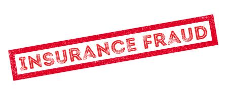 bank activities: Insurance Fraud, rubber stamp on white. Print, impress, overprint. Illustration