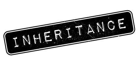inheritance: Inheritance, rubber stamp on white. Print, impress, overprint.