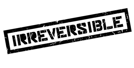 immovable: Irreversible, rubber stamp on white. Print, impress, overprint.