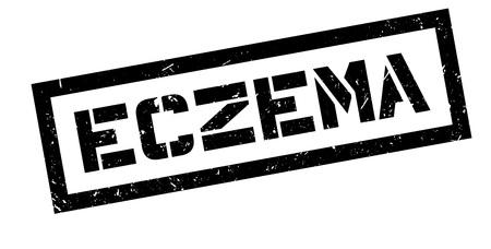 atopic: Eczema rubber stamp on white. Print, impress, overprint.