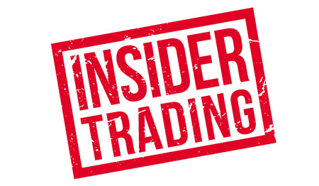 insider information: Insider Trading, rubber stamp on white. Print, impress, overprint.