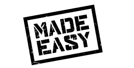 readily: Made Easy rubber stamp on white. Print, impress, overprint. Illustration