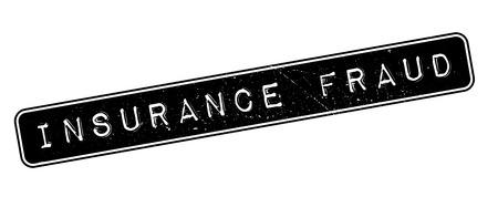 insure: Insurance Fraud, rubber stamp on white. Print, impress, overprint. Illustration
