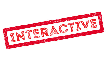 collective: Interactive, rubber stamp on white. Print, impress, overprint.