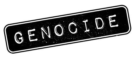 Genocide rubber stamp on white. Print, impress, overprint. Иллюстрация