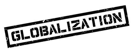 globalization: Globalization rubber stamp on white. Print, impress, overprint. Illustration