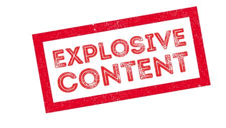 Explosive Content rubber stamp on white. Print, impress, overprint. Illustration