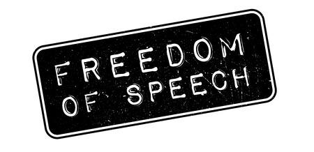 declare: Freedom of Speech rubber stamp on white. Print, impress, overprint. Illustration